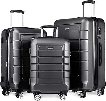 SHOWKOO Durable Luggage Set