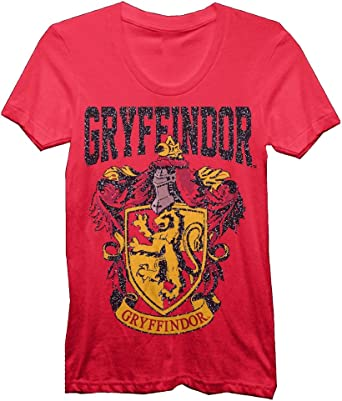 HARRY POTTER ni/ñas Gryffindor Distressed Crest Camiseta