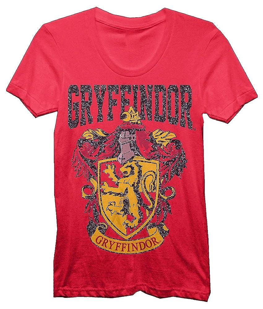 a69882585176 Amazon.com: Harry Potter Gryffindor Crest Bold Girl Juniors T-Shirt:  Clothing