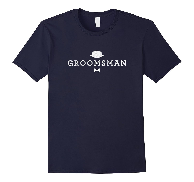 Simple Groomsman Wedding T-Shirt-TH