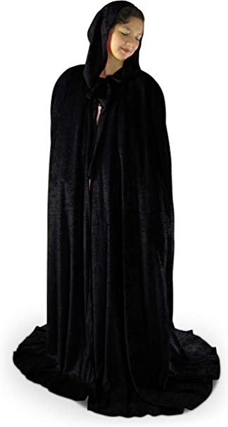 Artemisia Designs Unlined Crushed Velvet Medieval Halloween Cloak Renaissance Cape One Size