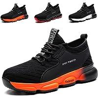 YISIQ Zapatos de Seguridad para Hombre Mujer Transpirable Ligeras con Puntera de Acero Trabajo Calzado de Zapatos de…