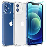 AEDILYS Compatible with iPhone 12 mini Case (2020),[Airbag Series] with [2 x Tempered Glass Screen Protector] [ Military Grad