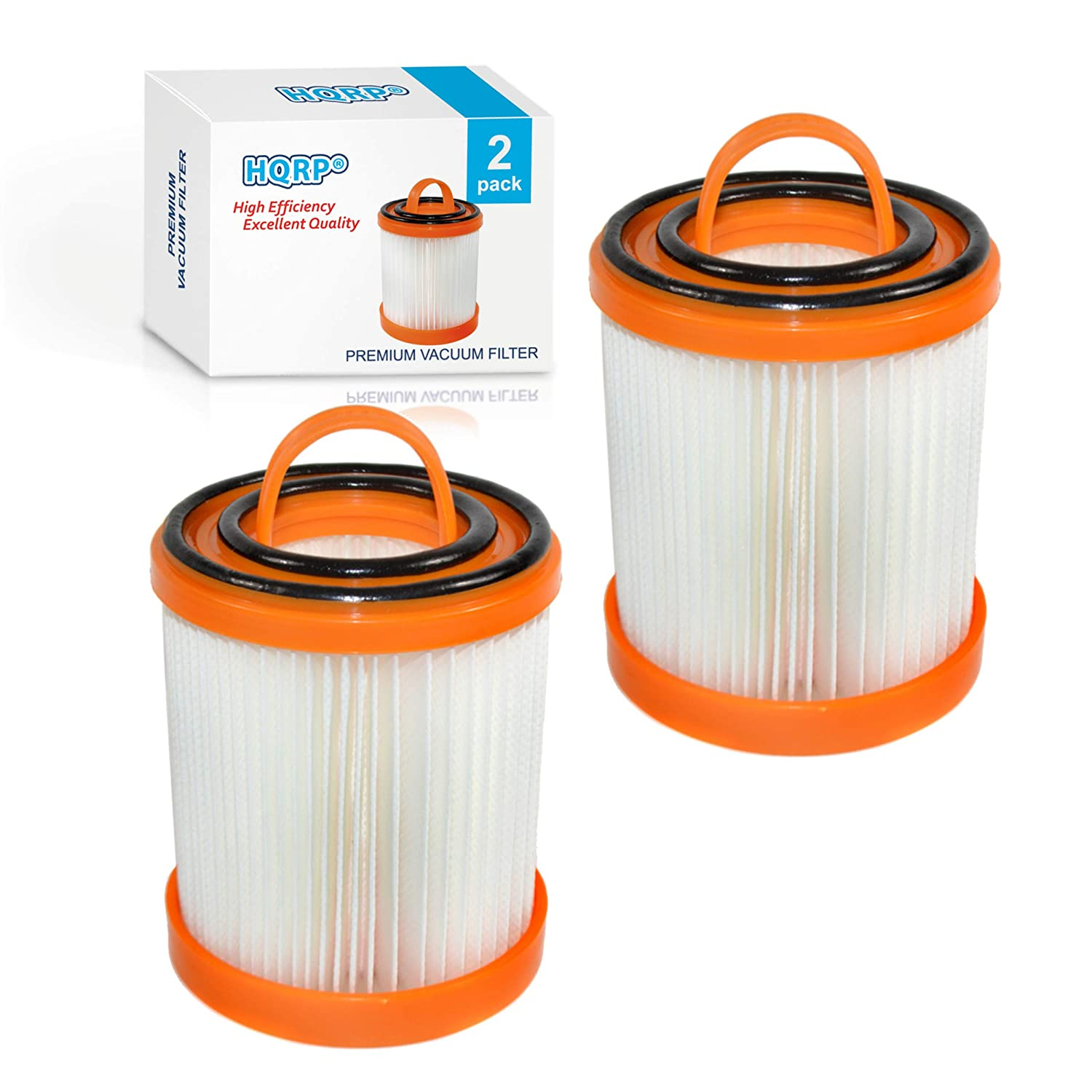 HQRP 2-Pack Dust Cup Filter Works with Eureka 5700 5740A 5810A 5811A 5812A 5813AV 5815AV 5840 5841 5856 5857 5860 Litespeed Whirlwind Vacuum Cleaners, DCF-3 DCF3 62136A Replacement