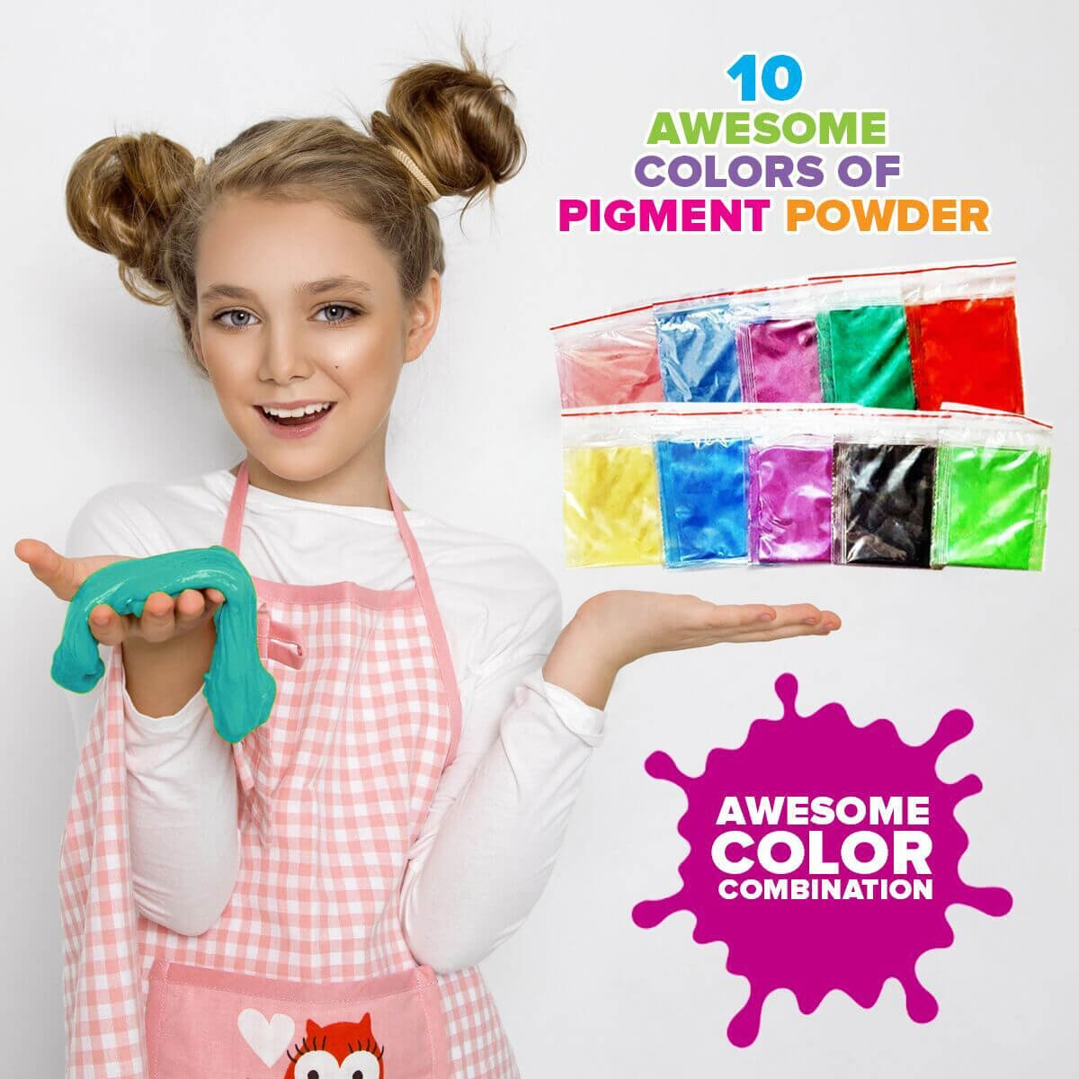 Ultimate Slime Kit for Girls and Boys | Slime Kit with Slime Supplies | Complete DIY Slime Making Kit | Includes Slime Ingredients, 10 Colors, 8 Different Add-Ins | Colorful Slime Kits for Family Fun by Lily and Lee's Craft Accessories Shoppe (Image #3)