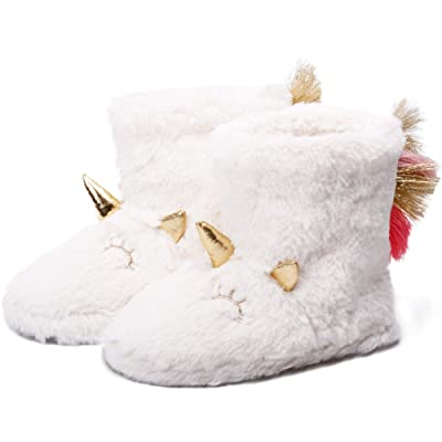 Animal Fluffy Unicorn Booties Slippers for Women Cute Fuzzy Bedroom Booty Socks | Slippers