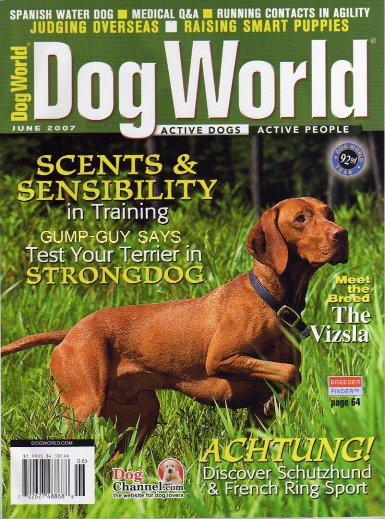 Download Dog World Magazine June 2007 Vizsla (Single Back Issue) PDF