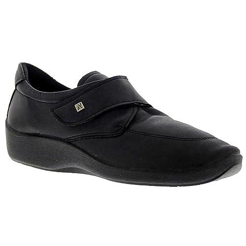 Arcopédico - L33H - Zapatos muy cómodos para hombre. Color: negro. Cierre con