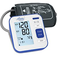Lovia Tensiómetro de Brazo Digital, Automática Monitor de la Presión Arterial- con 2 x120 Memorias de Usuario y Gran Pantalla LED,Certificada por FDA CE