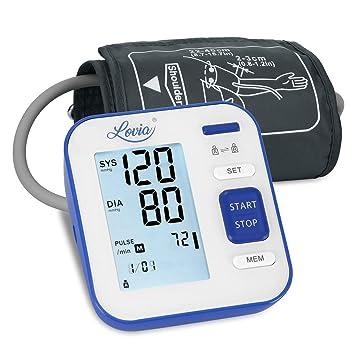 Lovia Tensiómetro de Brazo Digital, Automática Monitor de la Presión Arterial- con 2 x120 Memorias de Usuario y Gran Pantalla LED,Certificada por FDA ...
