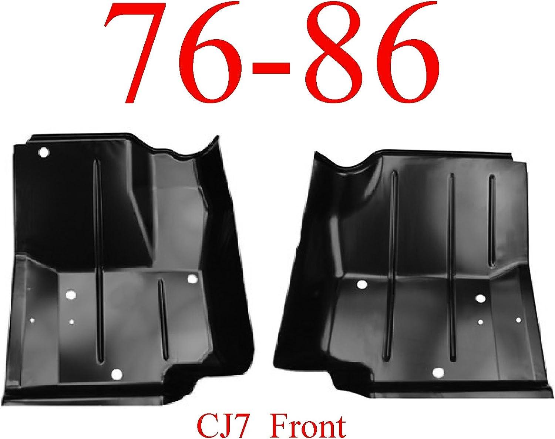 76-86 Jeep CJ7 Left /& Right Front Floor Pan Set