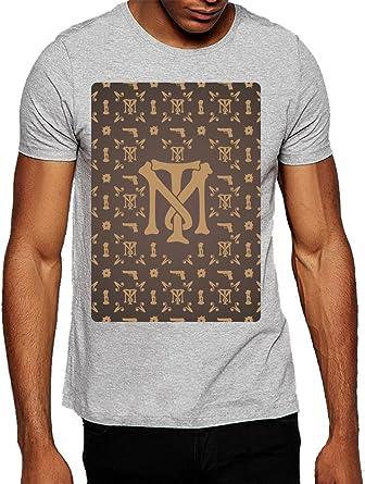 6774a49ad6476 Louis Vuitton Pattern Inspired Tony Montana Logo Men's T-shirt XX ...