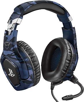 Trust Gaming Cascos PS4 Auriculares de Gaming GXT 488 Forze-B, Licencia Oficial para PlayStation 4, Micrófono Plegable, Altavoces Activos de 50 mm, Cable Trenzado de Nailon de 1.2 m, Azul: Amazon.es: Electrónica
