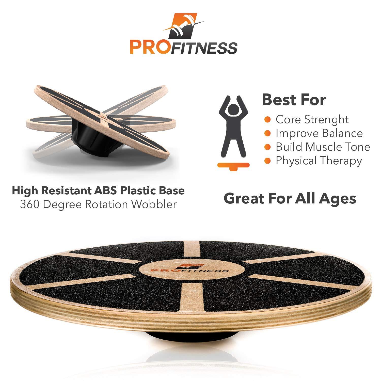 Amazon.com: ProFitness Tabla de equilibrio de madera (15,5 ...