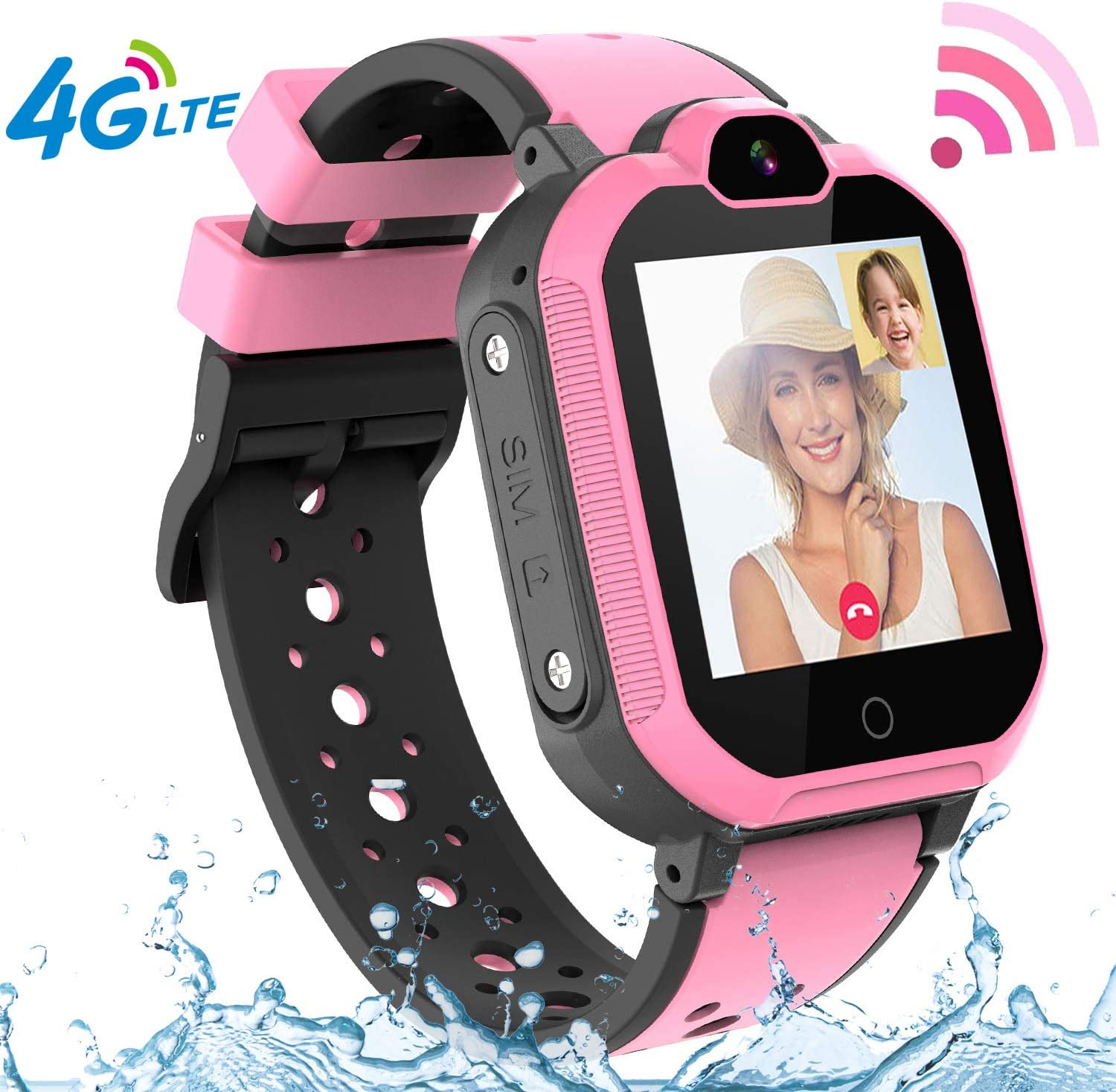 4G GPS Kids Smartwatch Phone - Boys Girls Waterproof Watch with GPS Locator 2 Way Call Camera Voice & Video Chat SOS Alarm Pedometer WiFi Wrist Watch ...