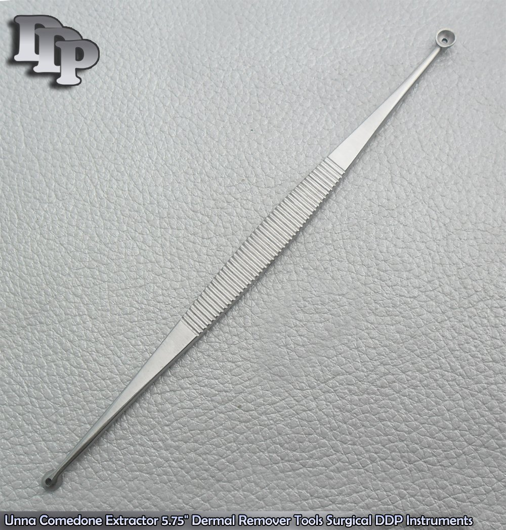 Unna Comedone Extractor 5.75'' Dermal Remover Tools Surgical DDP Instruments
