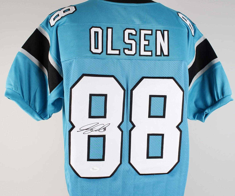 pretty nice 2a4c6 c143f Greg Olsen Signed Jersey Panthers - COA JSA at Amazon's ...