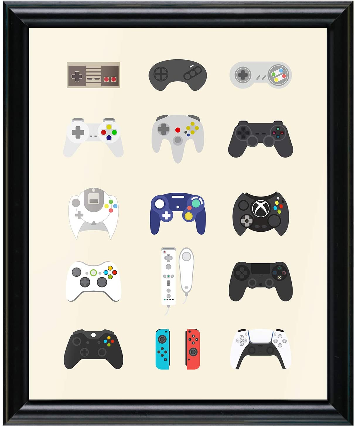 Retro Video Game Posters,Video Gaming Posters for Gamer Room Decor,Gamer Decor for Boys Room(8