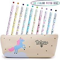 Bolígrafos de unicornio para niñas, regalo de cumpleaños escolar, Aperil juego de bolígrafos de unicornio para escribir…