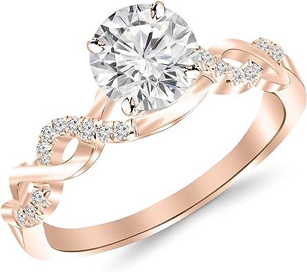 2 Carat Classic Prong Set Diamond Engagement Ring With A 1 5 Carat J K I2 Center Amazon Com