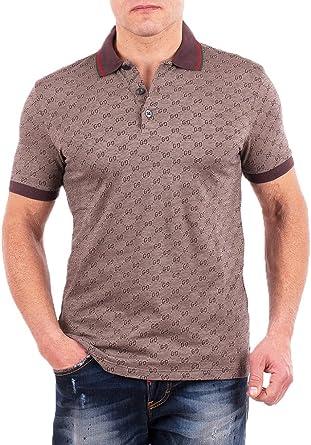 Gucci Polo Camiseta para Hombre, Manga Corta, Polo T, Estampado GG ...