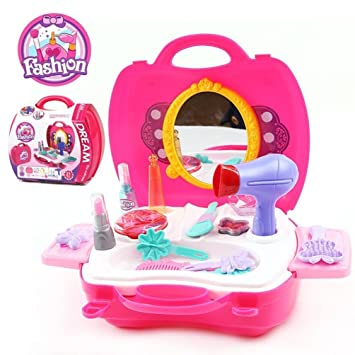 Bonniesun Pretend Play Cosmetic And Makeup Toy Set Kit Little Girls