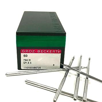 GROZ-BECKERT 794h 7 x 3 Agujas para máquina de coser Industrial dyx3: Amazon.es: Juguetes y juegos