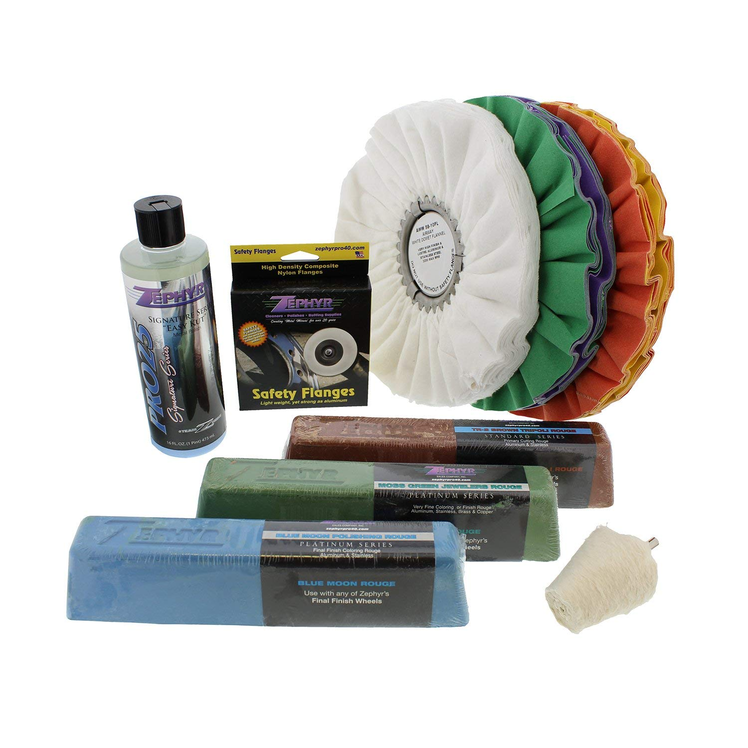 Zephyr Ultra Shine Polishing Kit with 2'' Extender for Airway Buffing Wheels
