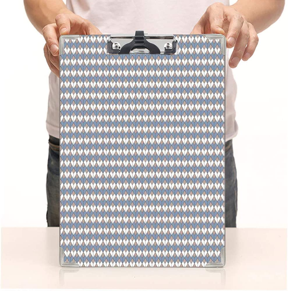 Amazon Com Custom Printing Clipboard Hardboard Clipboard Pack Diamond Line Pattern With Vertical Lines Slate Office School Workers Business Use Office Products