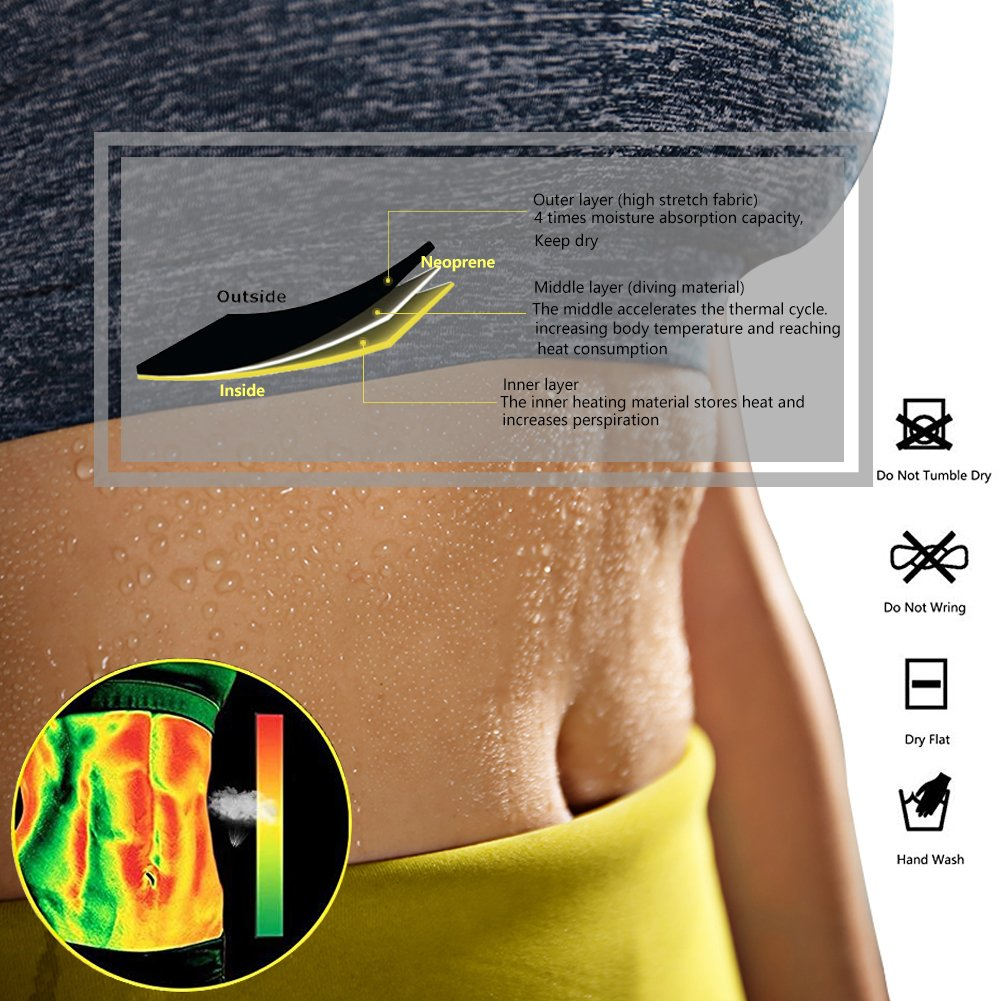 Womens Hot Sweat Slimming Neoprene Shirt Vest Body Shapers for Weight Loss Fat Burner Tank Top