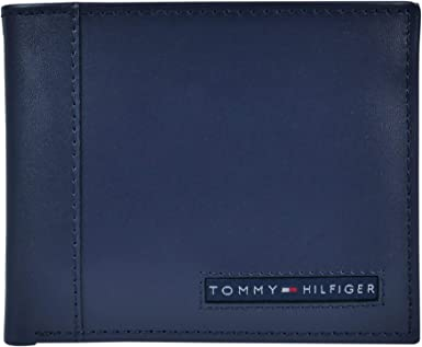 Tommy Hilfiger Dark Brown Leather Men/'s Wallet 205 FREE SHIPPING