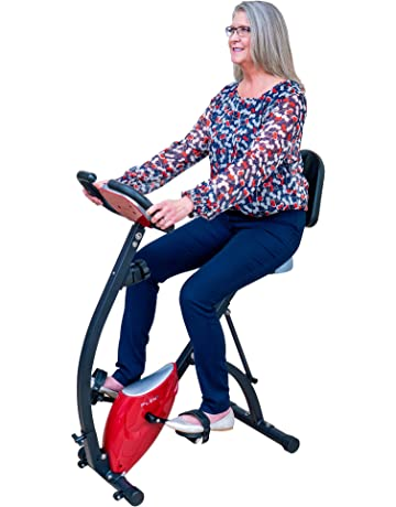 PLENY Foldable Semi-Recumbent Exercise Bike w/High Backrest, Hand Pulse and 150Kg Weight Support