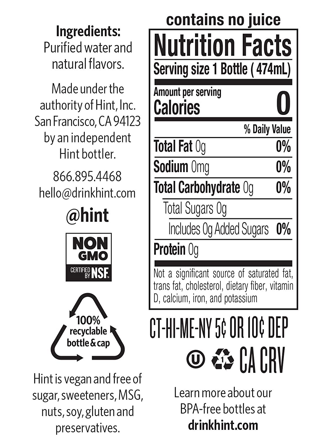 B001HTJ52C Hint Water Strawberry Kiwi (Pack of 12) 16 Ounce Bottles Pure Water Infused with Strawberry Kiwi Zero Sugar Zero Calories Zero Sweeteners Zero Preservatives Zero Artificial Flavors 51kw7V6AxZL