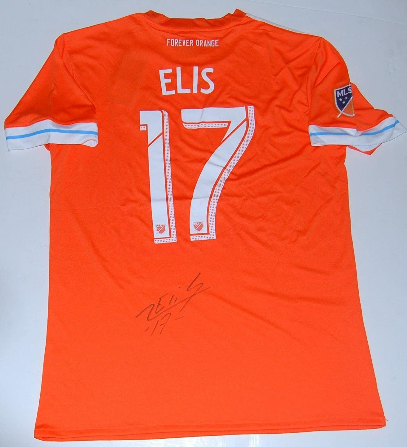Alberth Elis Signed Houston Dynamo Orange Mls Soccer Jersey W Coa Autographed Soccer Jerseys At Amazon S Sports Collectibles Store