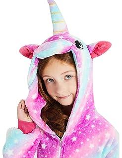 4fea3597fc58 ABENCA Kids Fleece Onesie Unicorn Pajamas Animal Christmas Halloween  Cosplay Costume