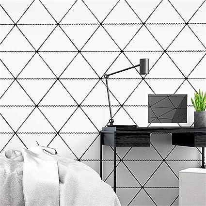 Joyield Murale Fond D Ecran Papier Peint Intissepapier Peint Style Nordique Fond D Ecran Moderne Triangle Geometrique Minimaliste Salon Chambre Papier Peint Papel De Parede Amazon Fr Cuisine Maison