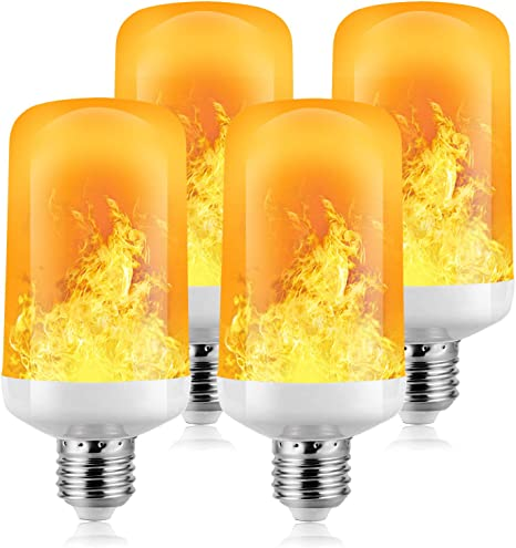 Bar Flamme Gl/ühbirne Festdekorationen Zuhause 2 St/ück LED Flamme 5W E27 Base Flackernde Flamme Gl/ühbirne dekorative Atmosph/äre Lampen f/ür Weihnachten Hotel