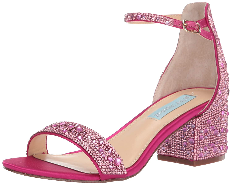Bright Fuchsia Betsey Johnson Womens Sb-mari Heeled Sandal