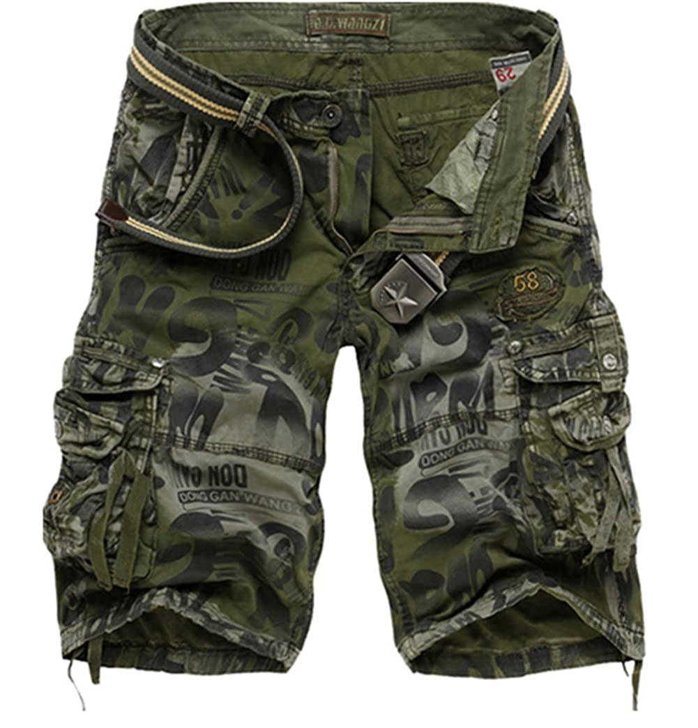 Passion-EYE Mens Combat Summer Causal Military Style Cargo Army Shorts Multi Pocket Plus Size
