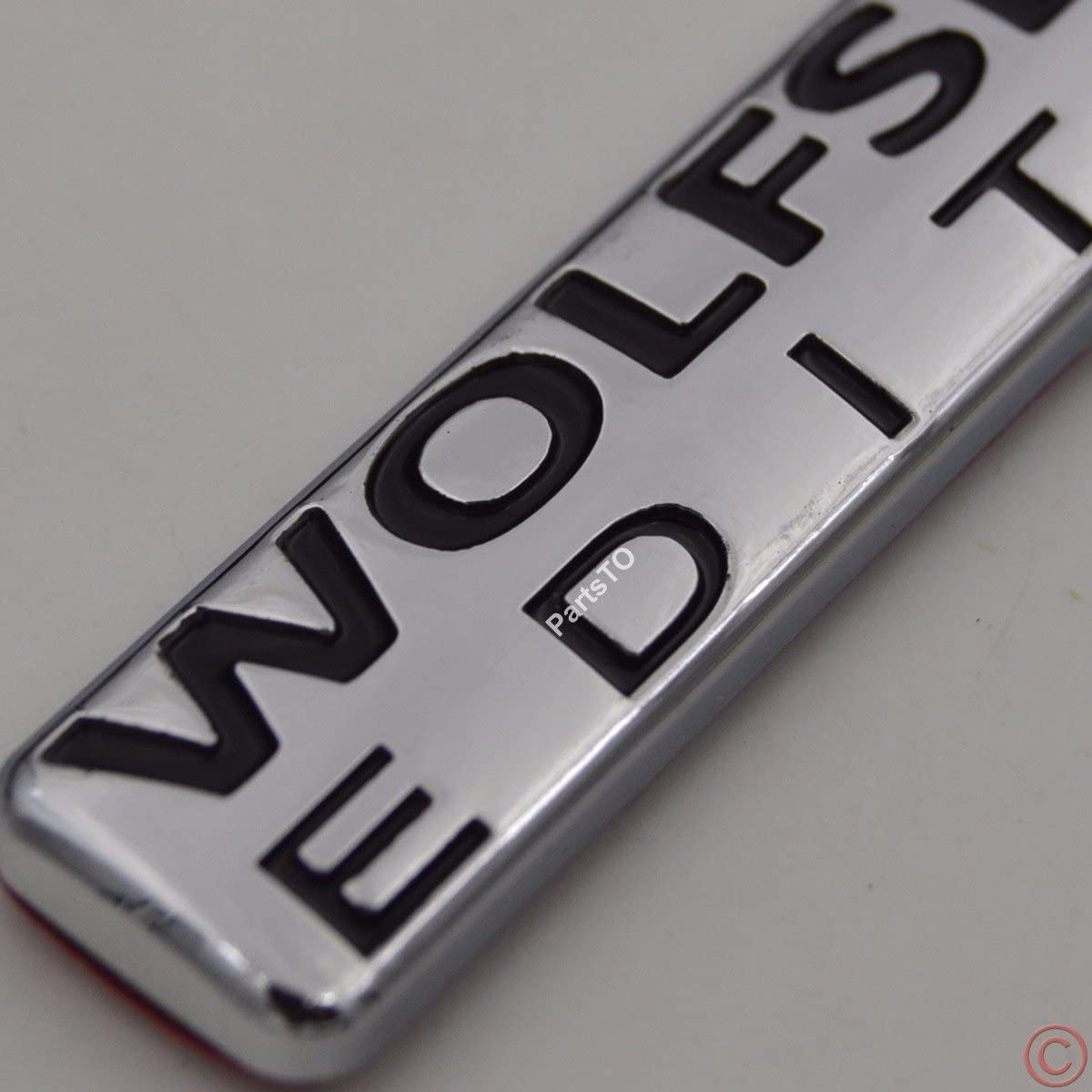 2x Wolfsburg Edition Emblem Badge Plate Trim Decal for Fender side trunk inner front window