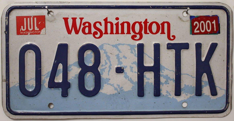 USA Nummernschild WASHINGTON ~ US Kennzeichen License Plate ~ Blechschild