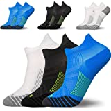 3 Pairs Compression Running Socks for Men & Women,HOME-MART Low Cut No Show Athletic Socks for Stamina Circulation & Recovery - Ultra Durable Ankle Socks for Runners, Plantar Fasciitis