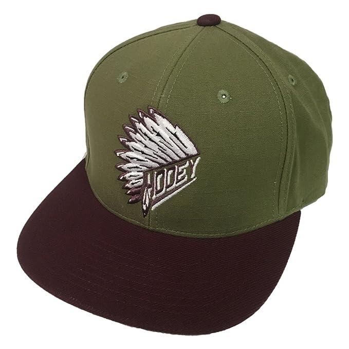 ec117981a1775 Amazon.com  HOOey Brand Quanah Olive Green Snapback Hat - 1770T-GN ...