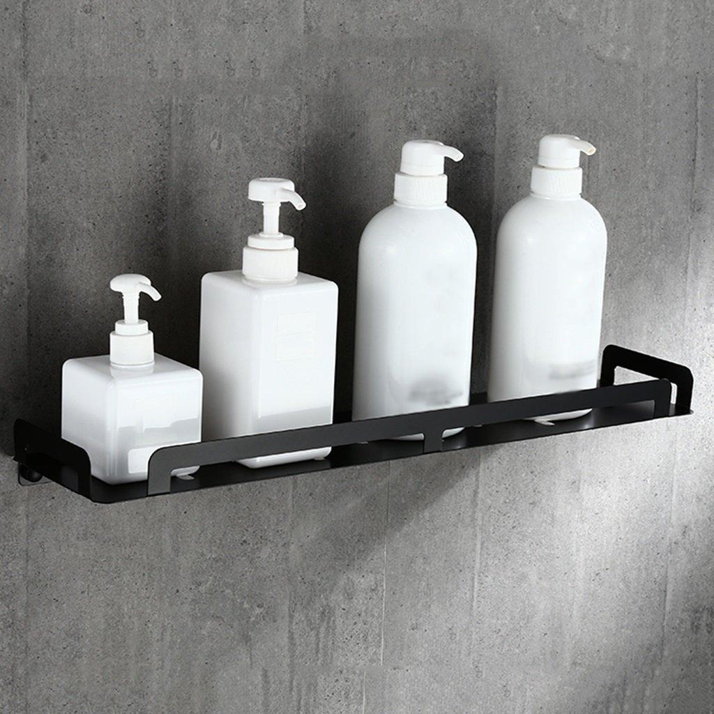 MyYztsj-bathroom shelf Simple y práctico Negro baño de Acero Acero Acero Inoxidable Estante Cesta del Inodoro Hueco hacia Fuera del Estante de Almacenamiento de artículos de tocador de Pared (Tamaño : 60cm) 5d7f8e