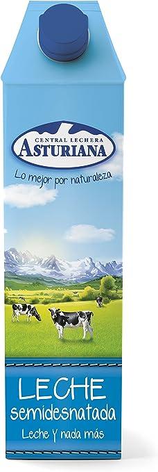 Central Lechera Asturiana - Leche UHT Semidesnatada - 1 L