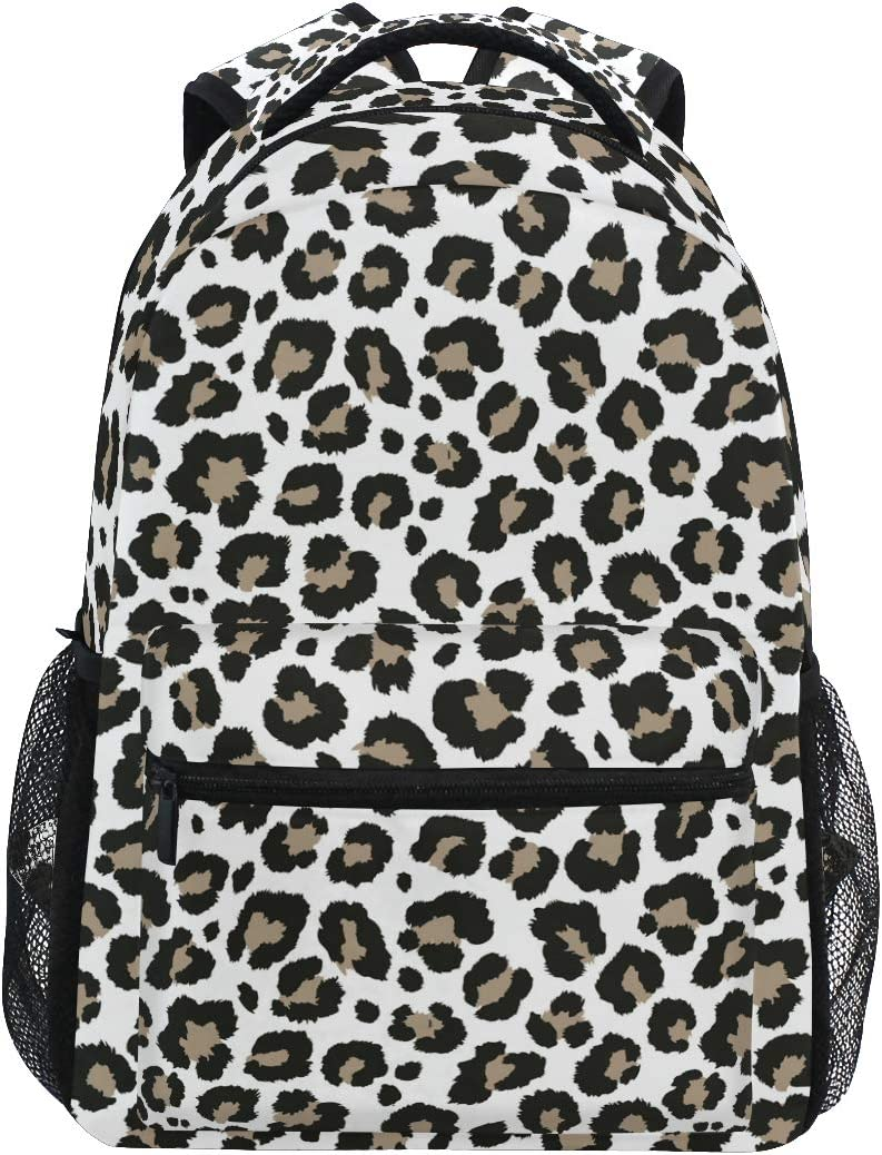 ALAZA Cheetah Leopard Print Animal Skin Large Backpack Personalized Laptop iPad Tablet Travel School Bag with Multiple Pockets