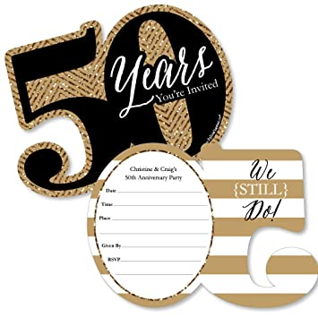 Amazon custom we still do 50th wedding anniversary custom we still do 50th wedding anniversary personalized anniversary party invitations fill in stopboris Images