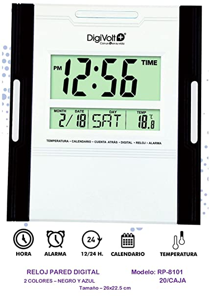 DIGIVOLT RP-8101 RELOJ DE PARED DIGITAL