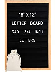"""Large Changeable Felt Letter Board 12"""" x 18"""" + 340 Letters, Numbers, Symbols, Emojis, Punctuation"""