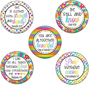 Locker Magnets for Girls Christian Inspirational Theme (Be Still And Know)